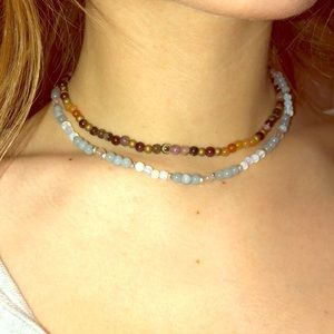 Jewelry - Lotus and Luna real stones/gems choker necklaces